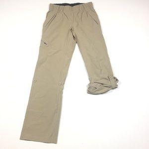 North Face Womens XS Convertible Tan Hiking Pants